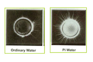 Ordinary Water and Pi Water